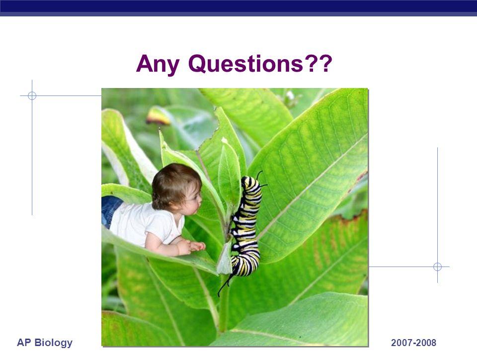 AP Biology 2007-2008 Any Questions??