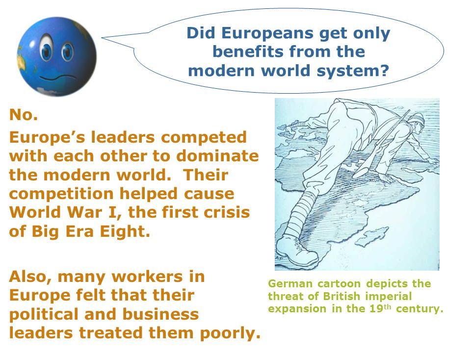 By the mid- 1930s, there was a three-way struggle for control of modern worlds future.