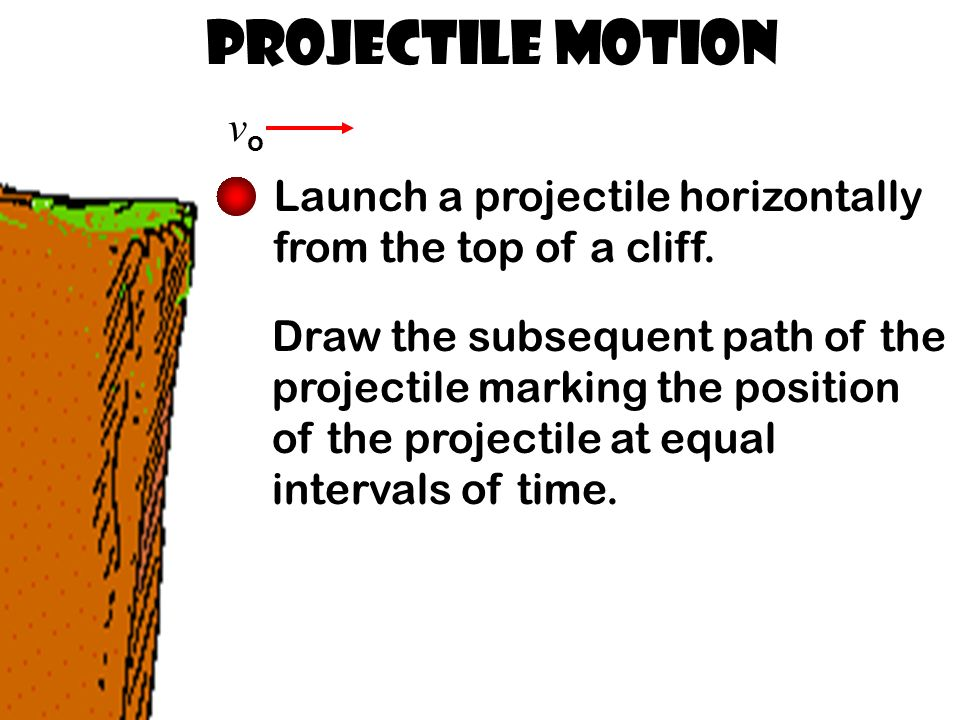 Projectile Motion vovo Launch a projectile horizontally from the top of a cliff.