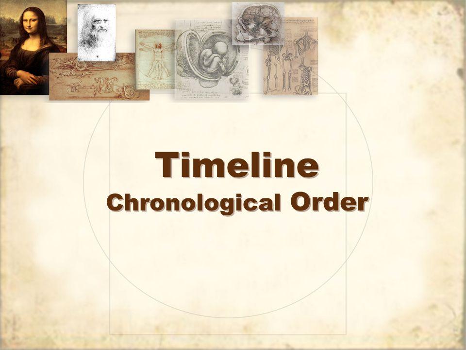 Timeline Chronological Order