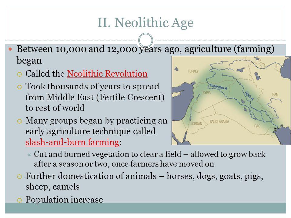 Neolithic Revolution Map the Neolithic Revolution