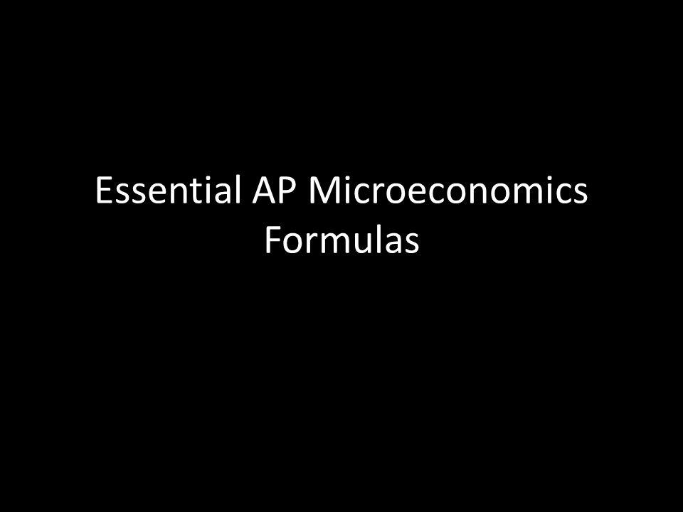 Essential AP Microeconomics Formulas