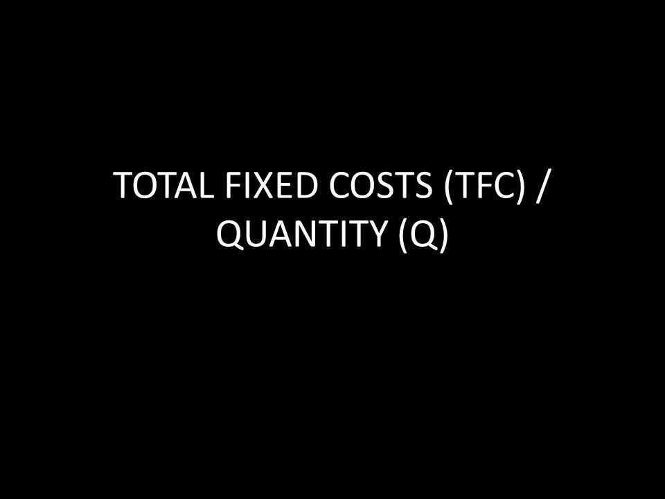 TOTAL FIXED COSTS (TFC) / QUANTITY (Q)