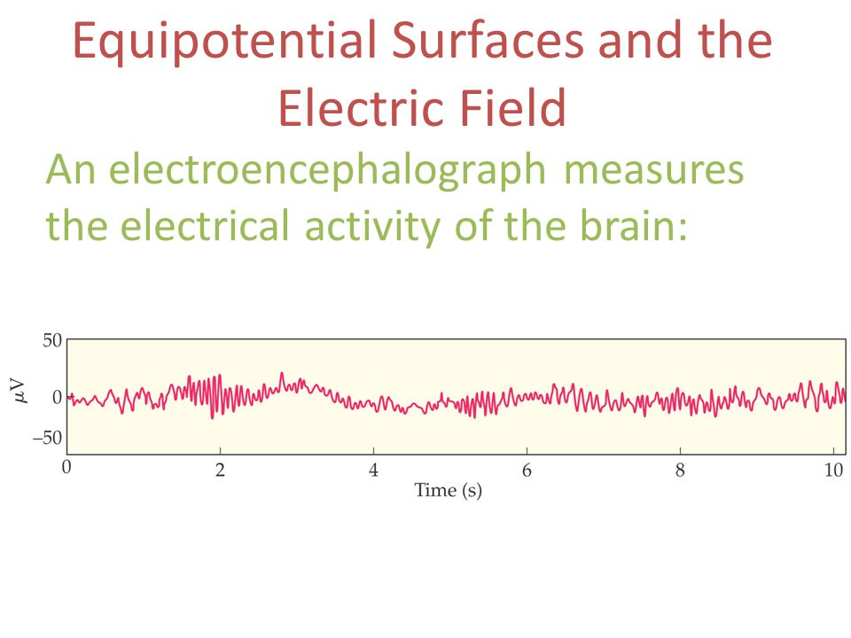 Equipotential Surfaces and the Electric Field An electroencephalograph measures the electrical activity of the brain:
