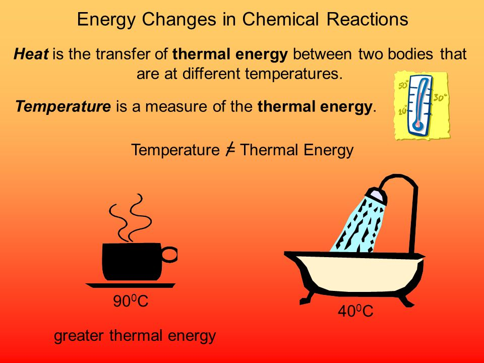 Energy is the capacity to do work Thermal energy is the energy associated with the random motion of atoms and molecules Chemical energy is the energy