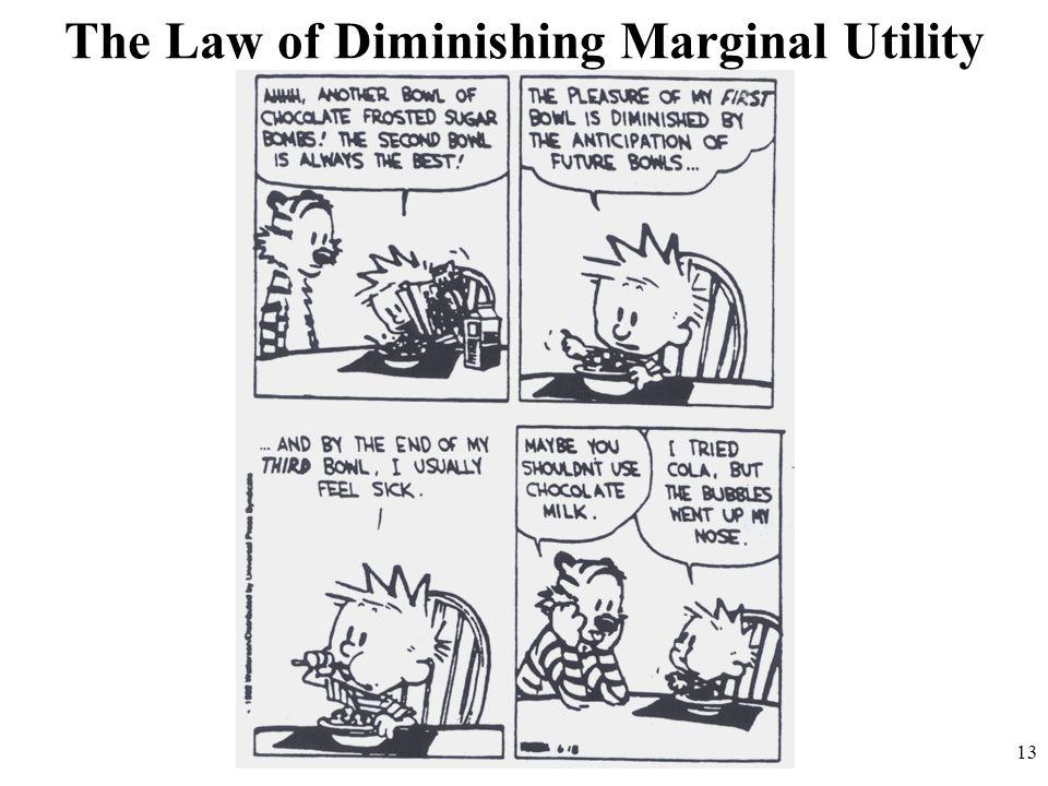 The Law of Diminishing Marginal Utility 13