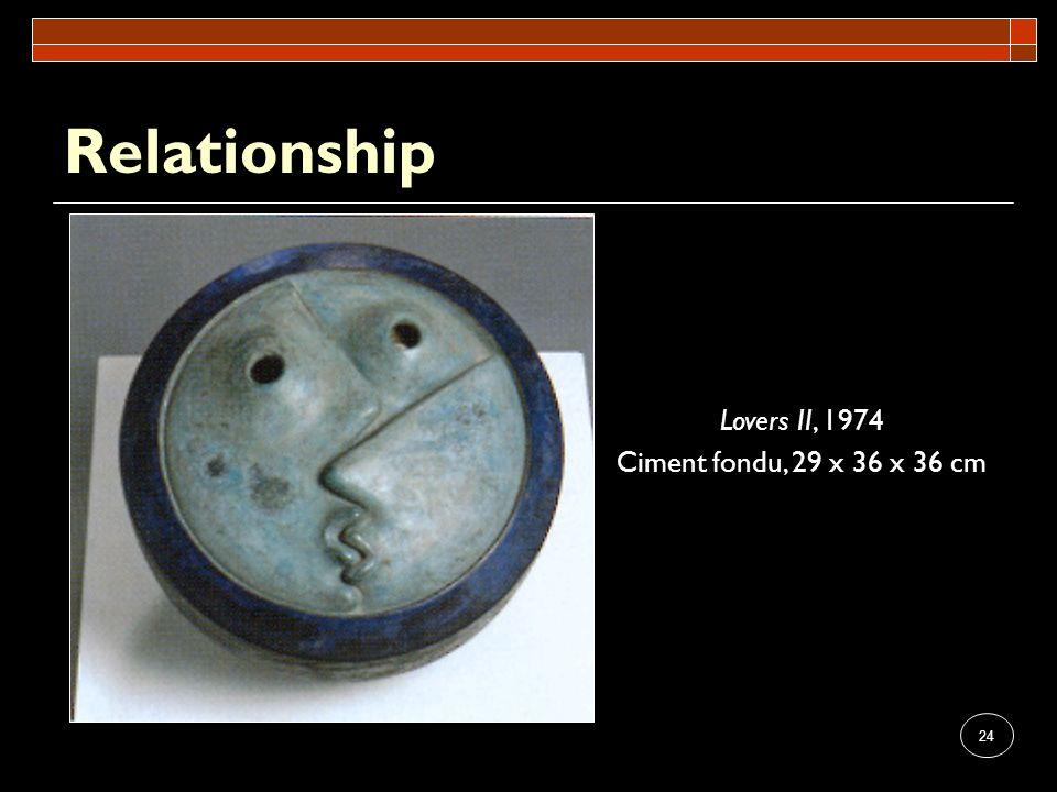 24 Relationship Lovers II, 1974 Ciment fondu, 29 x 36 x 36 cm