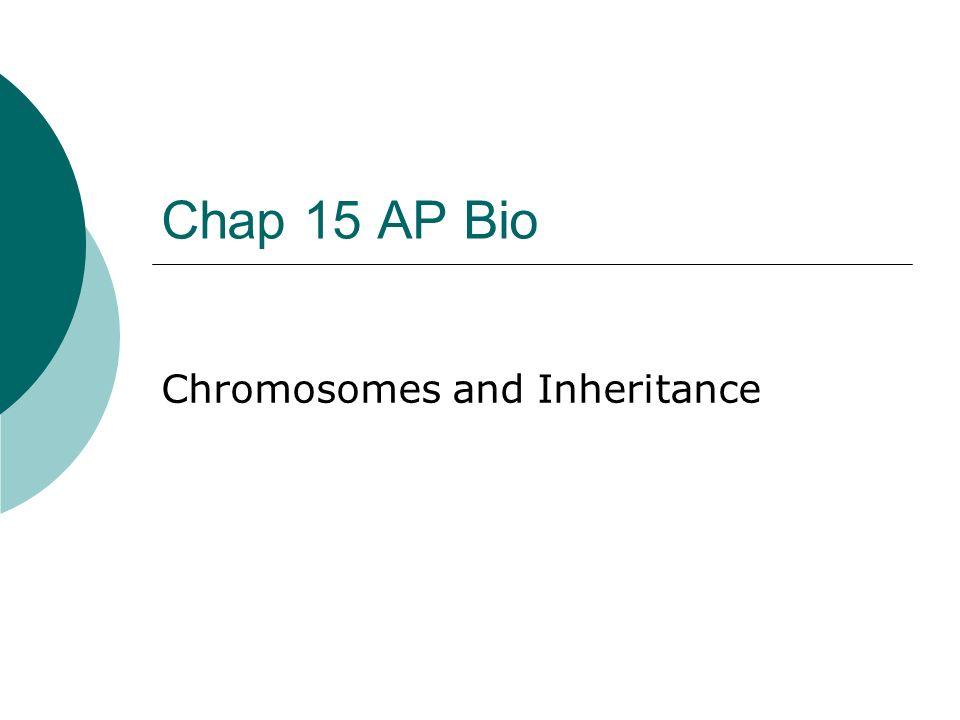 Chap 15 AP Bio Chromosomes and Inheritance