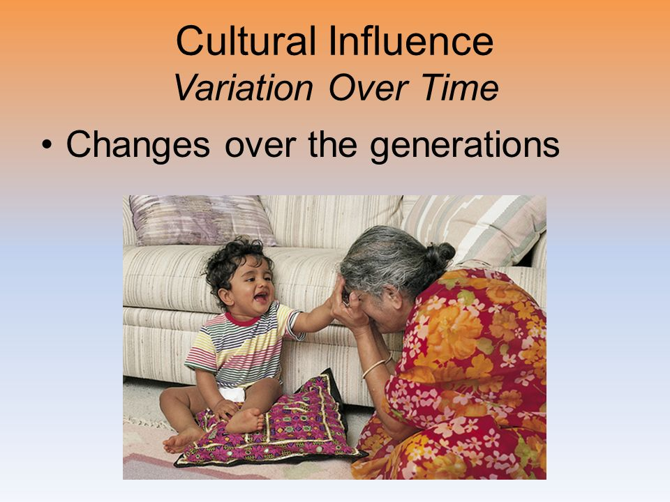 Cultural Influence Variation Over Time Changes over the generations