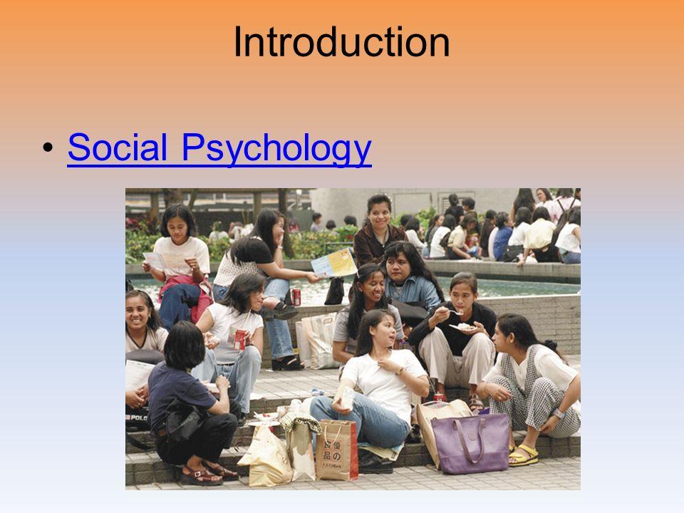 Introduction Social Psychology