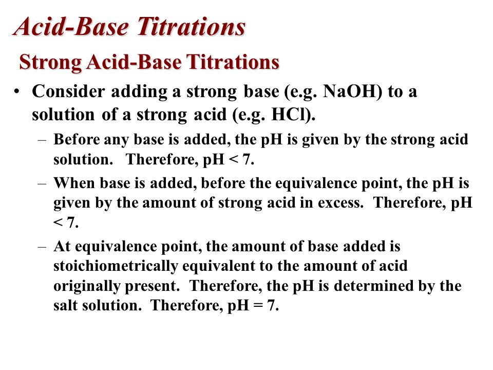 Indicator examples methyl red bromthymol blue Select the indicator that undergoes a color change closest to the pH at the equivalence point, where all of the acid has been neutralized by the base.