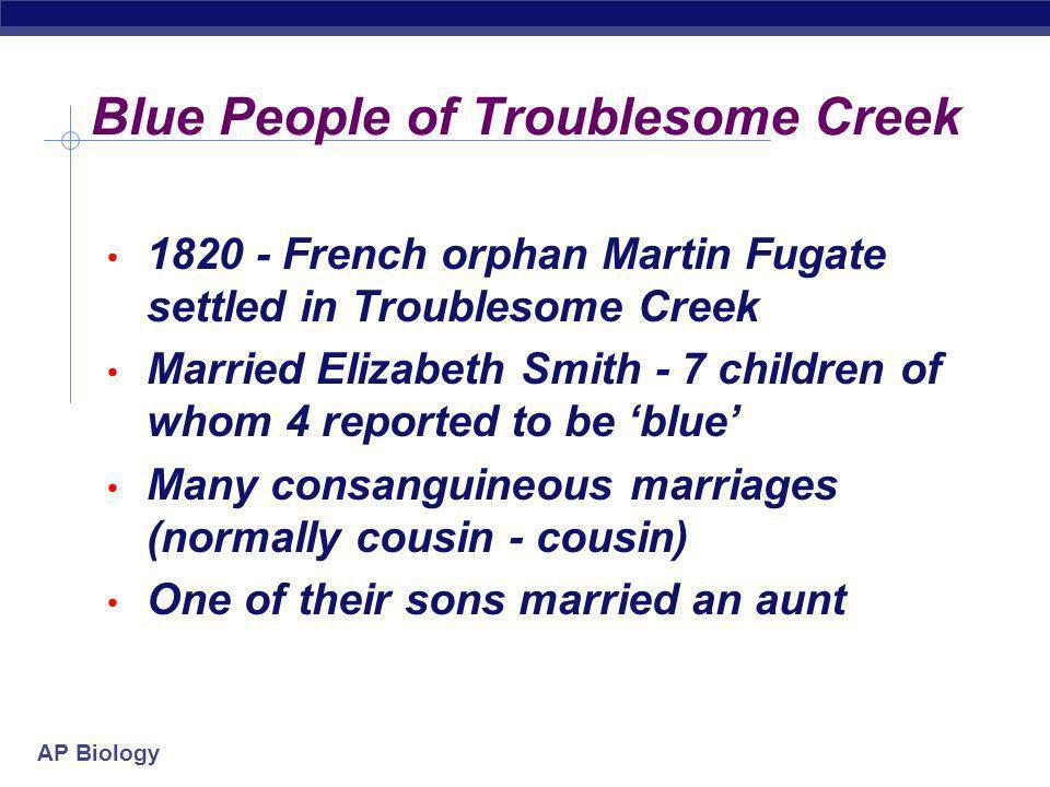 AP Biology Blue People of Troublesome Creek