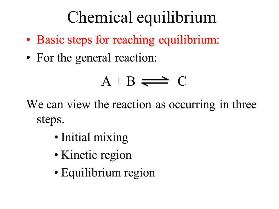 Chemical equilibrium Homogeneous equilibriaHomogeneous equilibria - Equilibria that involve only a single phase.Examples. All species in the gas phase