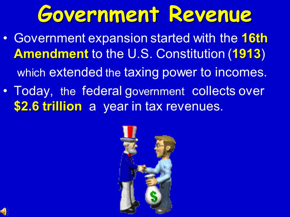 1915Up until 1915, the federal government collected few taxes and spent little. 1902 350,000 peoplespent $650 million.In 1902, it employed fewer than