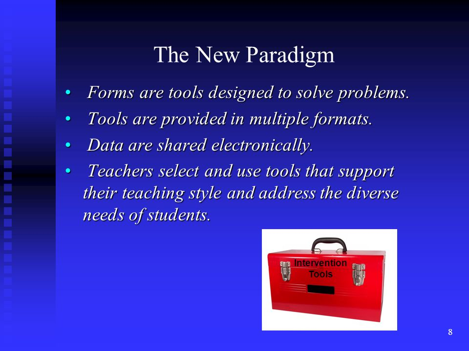 9 Providing multiple ways to document Tracking student strengths and preferences define problems Offering alternate intervention formats Recording results of interventions Sharing student information electronically Accommodate Pro 4.0 Supports the New Paradigm by :