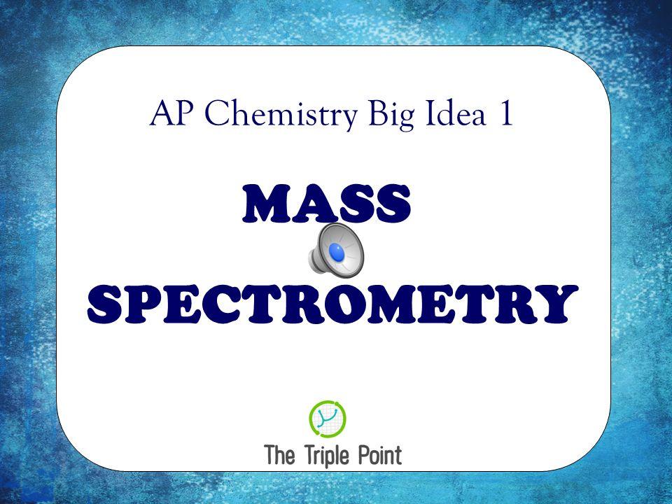 AP Chemistry Big Idea 1 MASS SPECTROMETRY