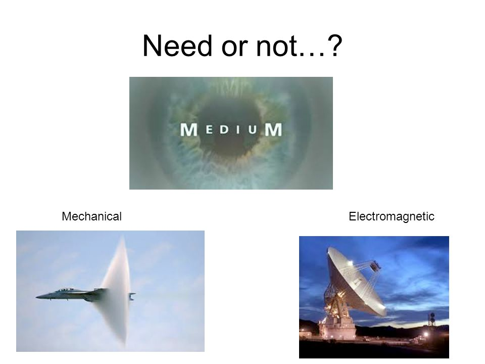 Need or not…? MechanicalElectromagnetic