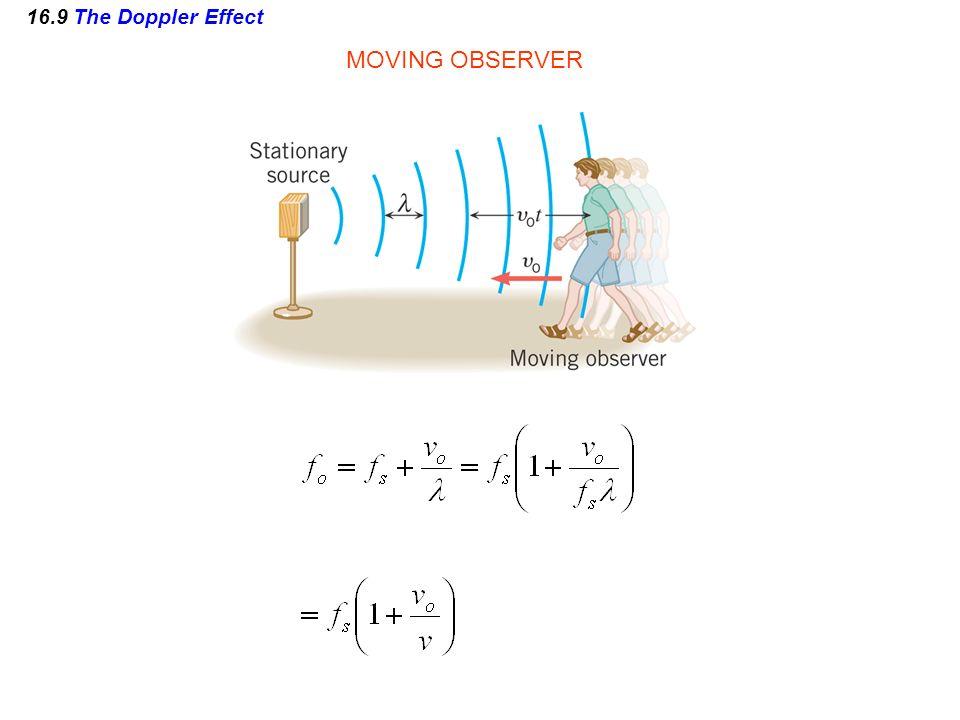 16.9 The Doppler Effect MOVING OBSERVER