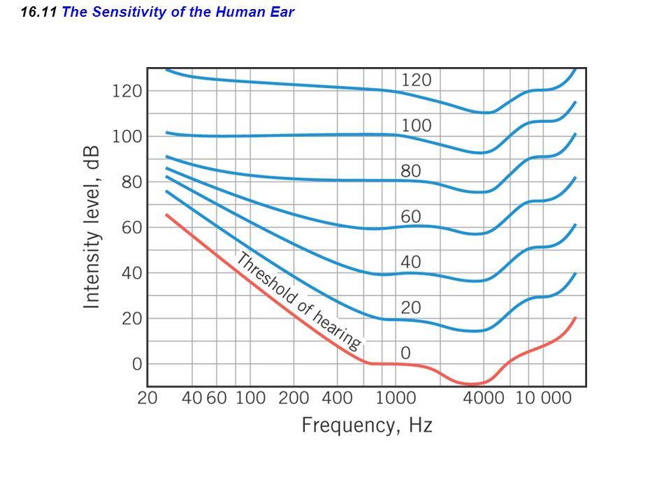 16.11 The Sensitivity of the Human Ear
