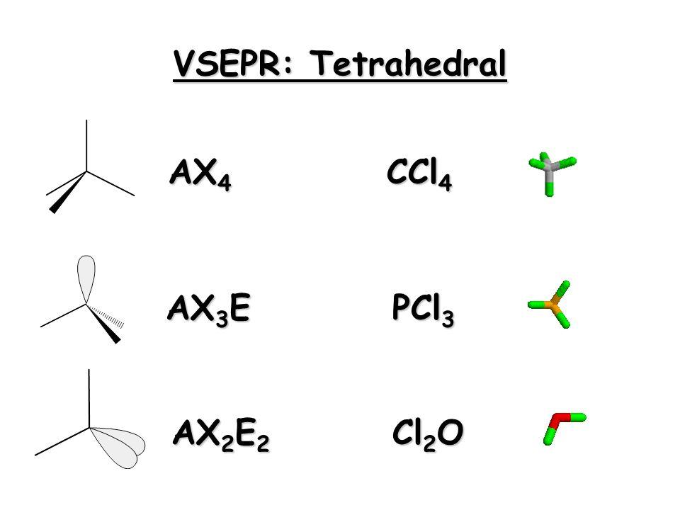 VSEPR: Trigonal Planar AX 3 AX 2 E BF 3 SnCl 2