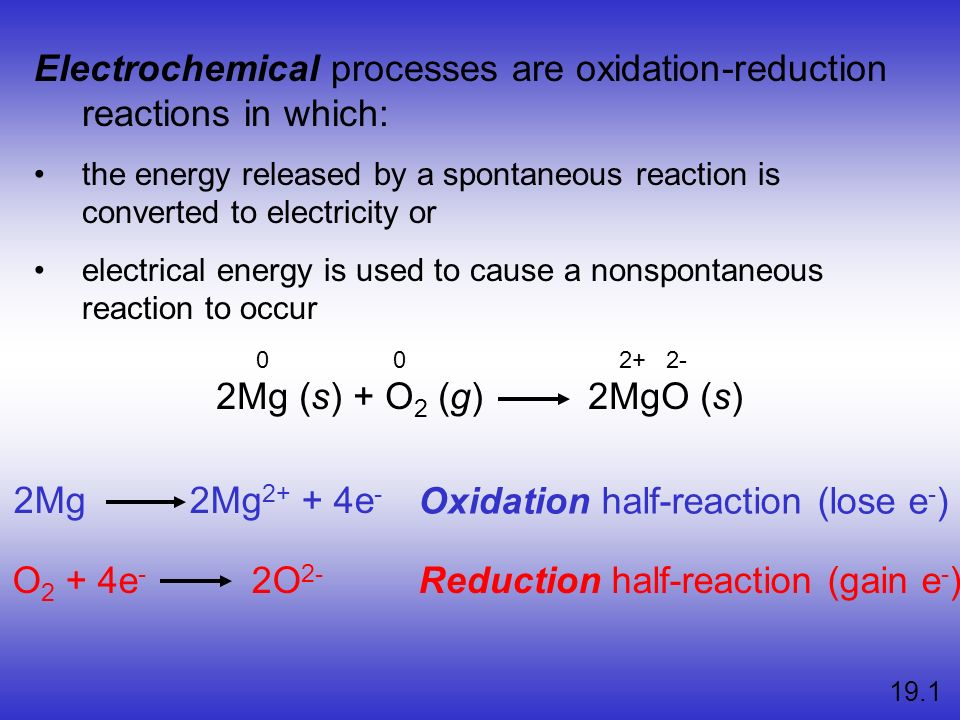 Section 18.1 Balancing Oxidation–Reduction Equations Return to TOC Copyright © Cengage Learning.