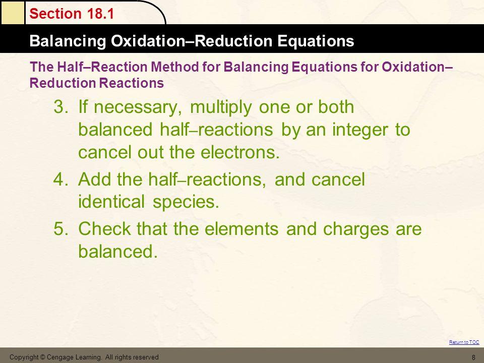 Spontaneity of Redox Reactions 19.4