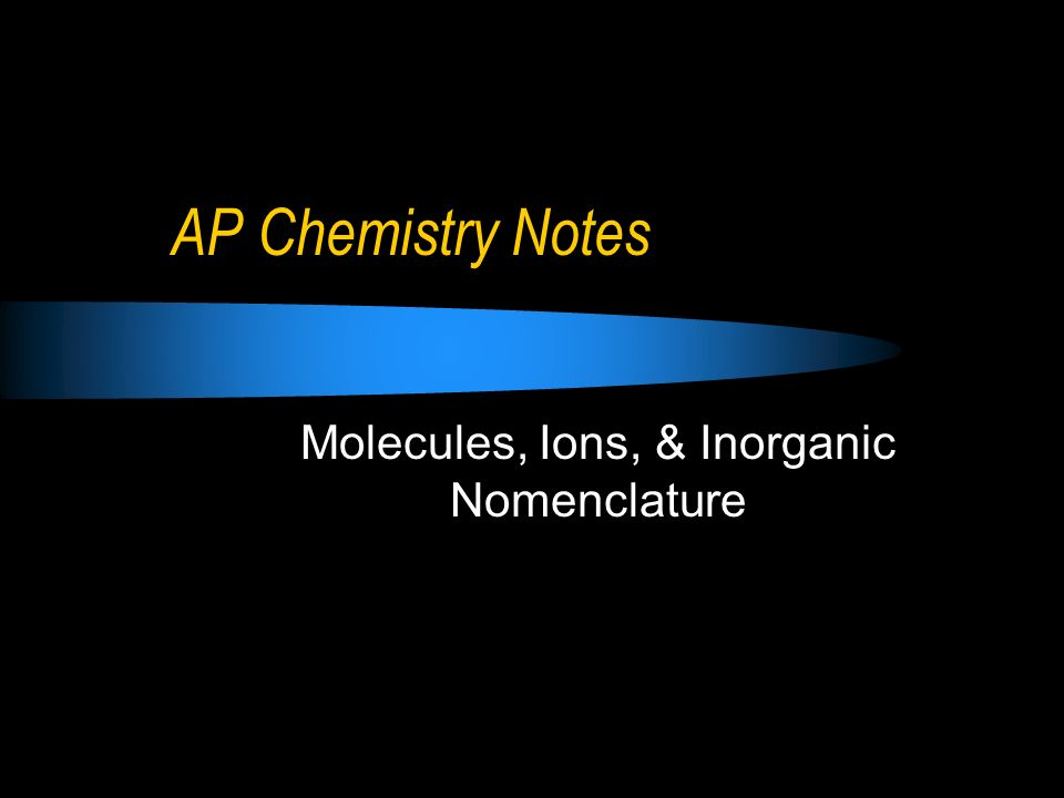 Ionic Compounds: