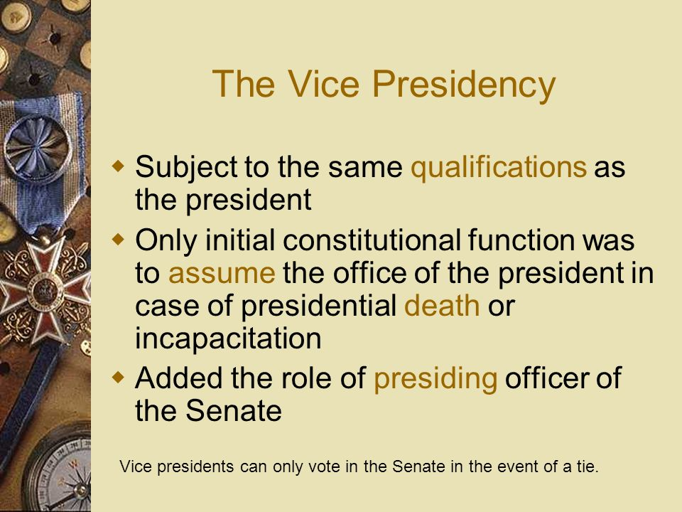 The 25 th Amendment Added in 1967 to fill a vice presidential vacancy The 25 th Amendment directs the president to appoint a new VP in the event of de
