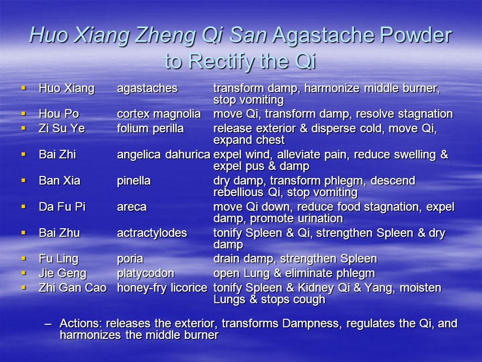 Huo Xiang Zheng Qi San Agastache Powder to Rectify the Qi Huo Xiang agastachestransform damp, harmonize middle burner, stop vomiting Huo Xiang agastac