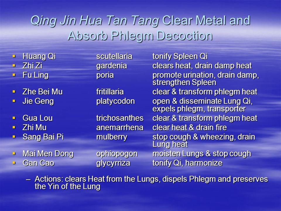 Qing Jin Hua Tan Tang Clear Metal and Absorb Phlegm Decoction Huang Qi scutellariatonify Spleen Qi Huang Qi scutellariatonify Spleen Qi Zhi Zi gardeni