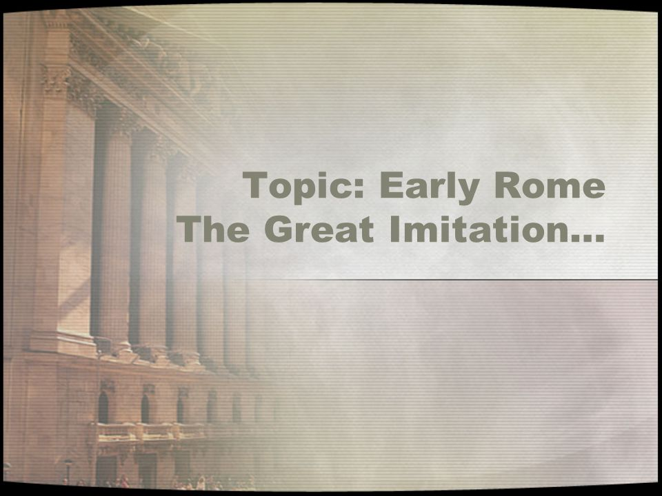Compare The Etruscans To the Roman Republic EtruscansRome S P R I T E