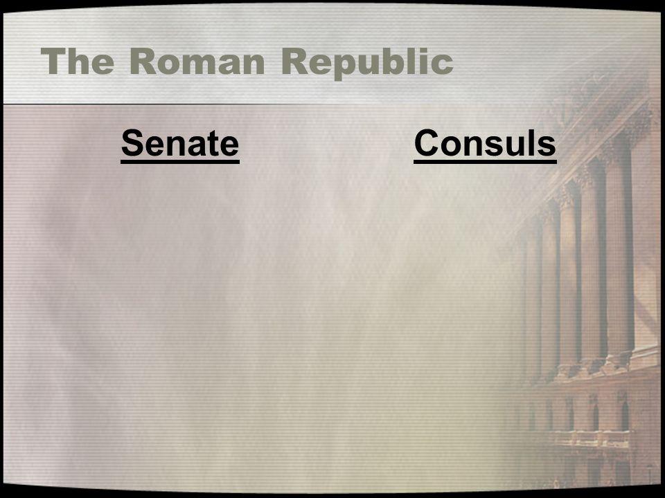 The Roman Republic SenateConsuls