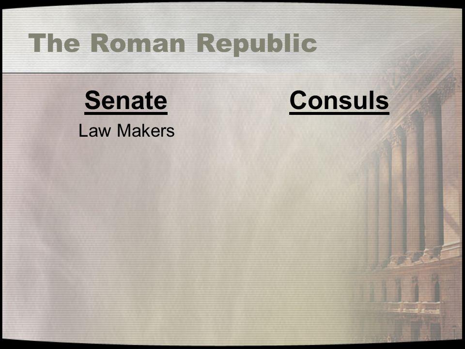 The Roman Republic Senate Law Makers Consuls