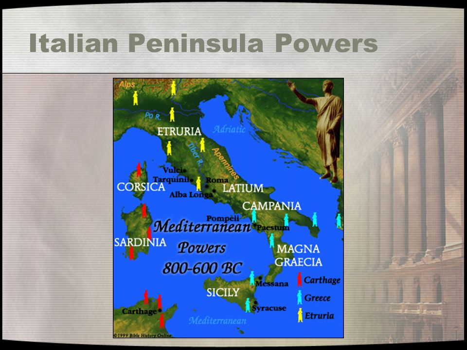 Very Early Similarities to Future Rome The Etruscans took over the Latin s in 800 B.C.
