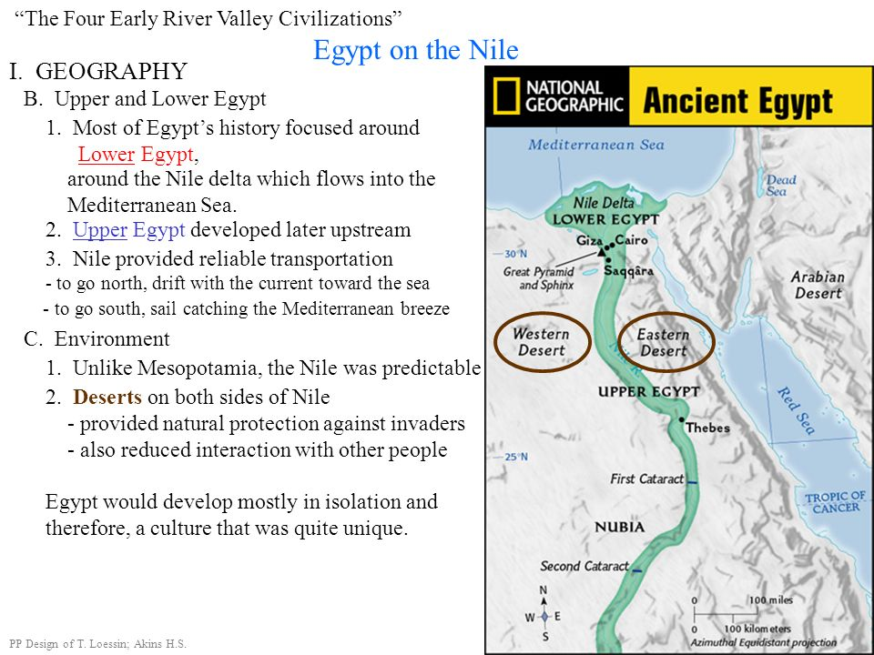 Egypt, the gift of the Nile. ~ Herodotus, Greek historian (484-432 B.C.E.) Examine this quote: What do you infer from this quote, what did Herodotus m
