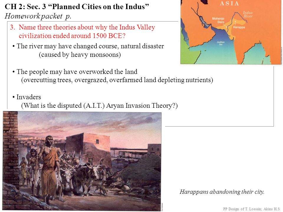 What happened to the Harappan civilization on the Indus River? Above: The Great Bath at Mohenjo-Daro. Surrounding pics: various Harappan artifacts. PP