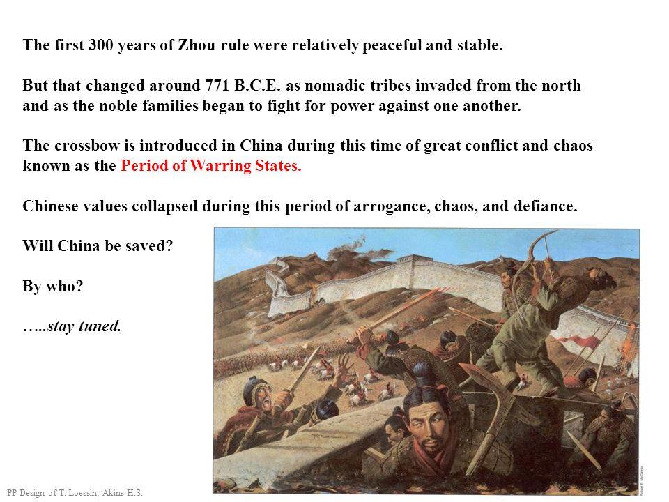 Ancient China Neolithic ca. 12,000 - 2000 B.C. Xia ca. 2100-1800 B.C. Shang 1700-1027 B.C. Western Zhou 1027-771 B.C. Eastern Zhou 770-221 B.C. Warrin