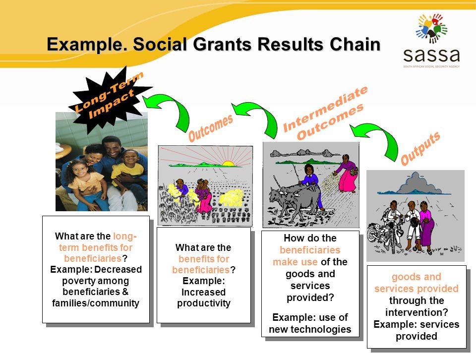 19 How do the beneficiaries make use of the goods and services provided? Example: use of new technologies How do the beneficiaries make use of the goo
