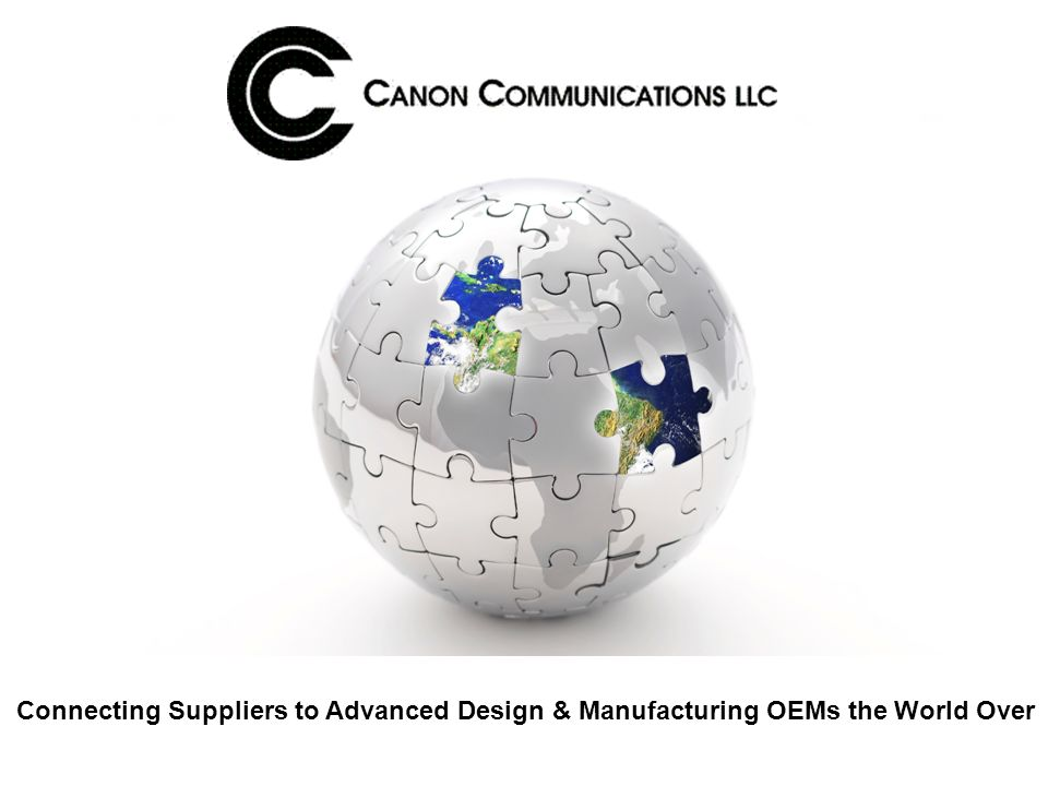 Connecting Suppliers to Advanced Design & Manufacturing OEMs the World Over