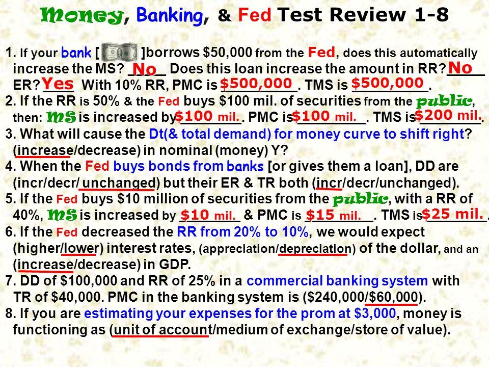 71. An easy money policy will (apprec/deprec) the dollar & (incr/decr) U.S. Xn. A tight money policy will (apprec/deprec) the dollar & (incr/decr) U.S