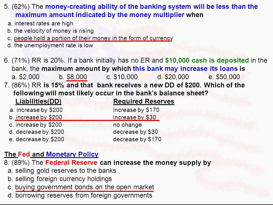Monetary Questions From 2000 AP Exam Money and the Fed Keynesian modelexpansionary monetary policy 1. (61%) In the Keynesian model, an expansionary mo