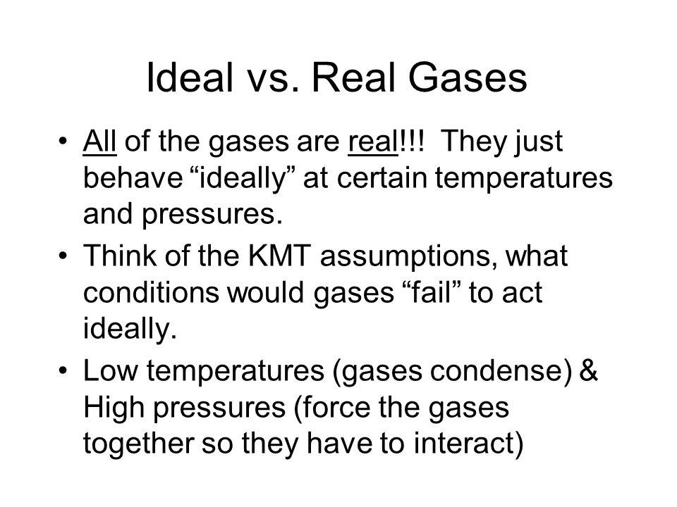 Plots of PV/nRT vs. P for Several Gases