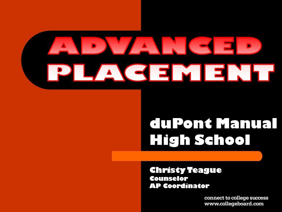 duPont Manual High School Christy Teague Counselor AP Coordinator