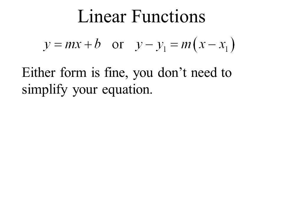 Ex. Find the equation of the line that contains (-2,1) and (2,3).