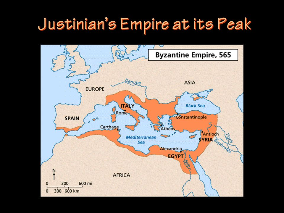 Justinians Empire at its Peak