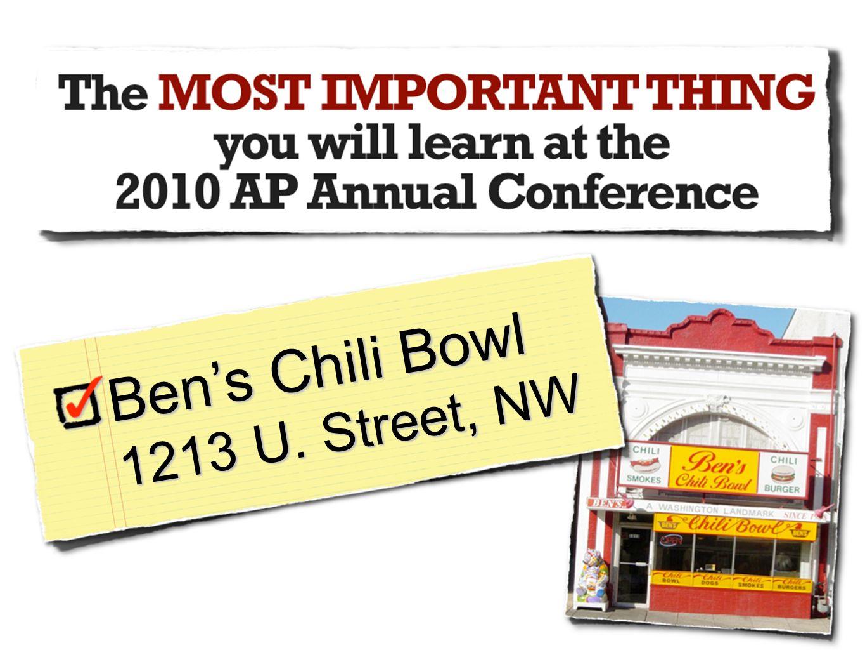 Bens Chili Bowl 1213 U. Street, NW