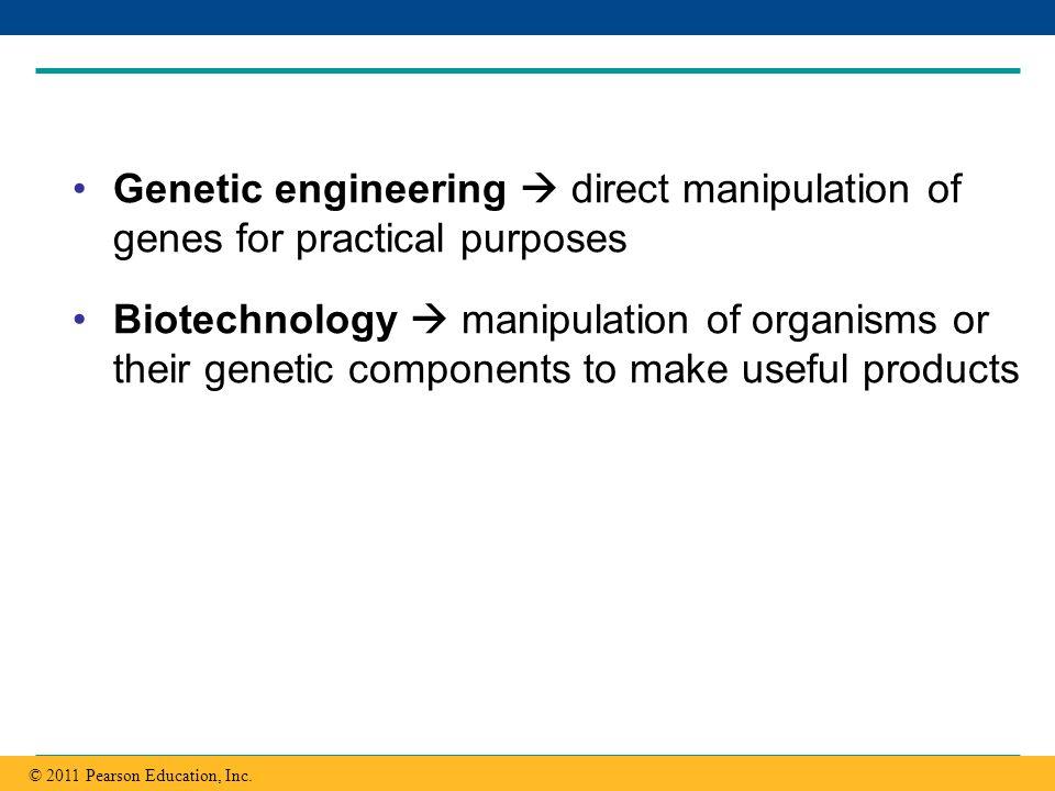 Copyright © 2005 Pearson Education, Inc. publishing as Benjamin Cummings Genetic engineering direct manipulation of genes for practical purposes Biote