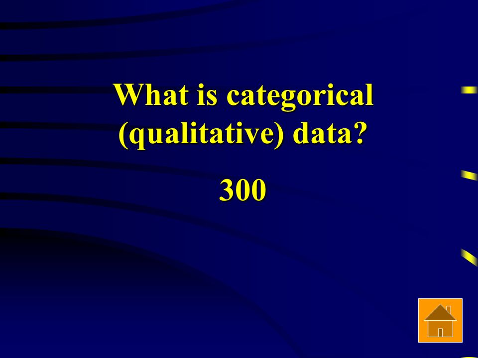 What is categorical (qualitative) data 300