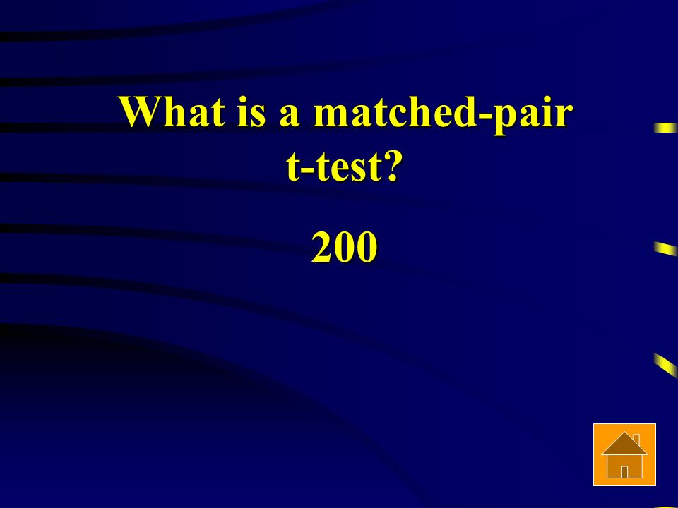 What is a matched-pair t-test 200
