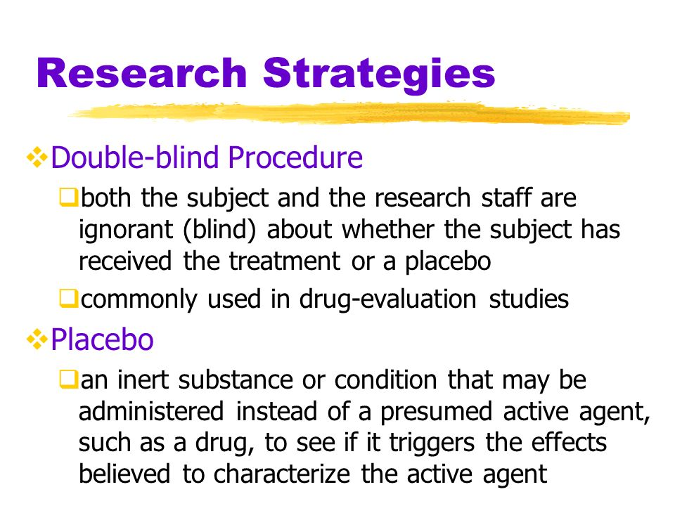 Research Strategies Experimental Condition the condition of an experiment that exposes subjects to the treatment, that is, to one version of the independent variable Control Condition the condition of an experiment that contrasts with the experimental treatment serves as a comparison for evaluating the effect of the treatment